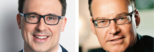 Mieten staatlich begrenzen? Sören Bartol (links) sagt: »Ja!« Axel Gadeschko (rechts) findet: »Nein!« Und Ihre Meinung? Nehmen Sie teil an unserer aktuellen Online-Umfrage. (Fotos: Pressebild SPD/Knoll; Presebild/GDW/Urban Ruths)