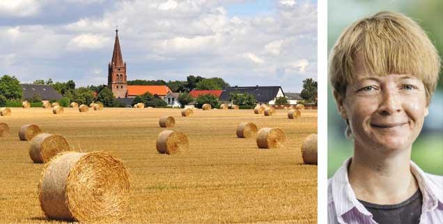 Die Förderung der Biodiversität gelingt nur über den Dialog mit den konventionellen Landwirten, meint Maren Heincke, Fachreferentin im Zentrum Gesellschaftliche Verantwortung der Evangelischen Kirche von Hessen und Nassau (Fotos: epd/Schulze; Seyfert)