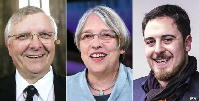 Axel Noack, Antje Vollmer, Thomas Andonie: Sie haben die Publik-Forum-Petition an den Papst unterschrieben. (Fotos: pa/Wolf; pa/Eventpress Stauffenberg; KNA)