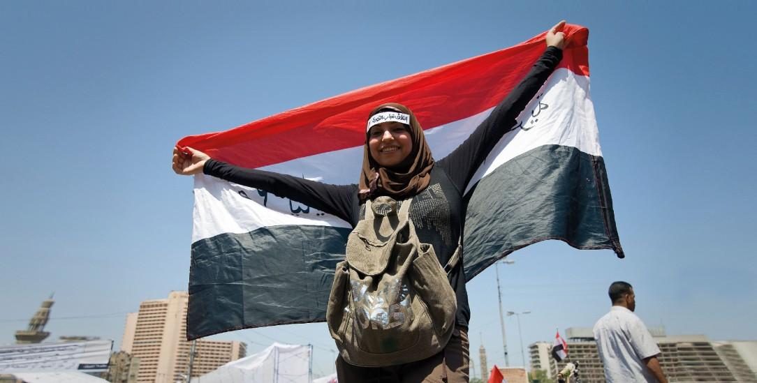An den Protesten vor zehn Jahren in der Arabischen Welt beteiligten sich viele Frauen. Sie forderten Mitsprache und Respekt ein. (Foto: Claudia Wiens/Alamy Stock Photo)