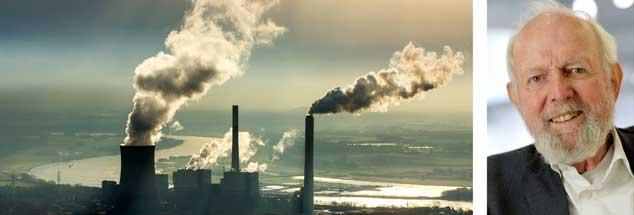 Umweltexperte Ernst Ulrich von Weizsäcker (rechts) sagt: »Der Klimaschutz kommt nur massiv voran, wo er lukrativ ist: Durch das Erneuerbare-Energien-Gesetz sind die Energieträger Wind, Sonne oder Wasserkraft lukrativ geworden, und zwar für Anbieter und für Kunden.« Verwunderlich, dass trotzdem immer noch Kohlekraftwerke (links) am Netz sind. (Fotos: pa/Blossey; pa/May)