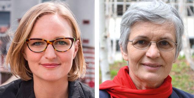 Mehr Härte gegen Putin zeigen? Franziska Brantner (links) sagt: Ja! Ute Finckh-Krämer meint: Nein! (Fotos: Pressebild; Foto: Pressebild/carsten schwaebe)