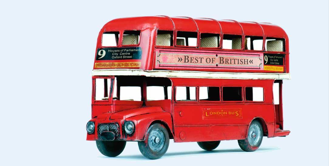 Es fährt ein Bus nach nirgendwo. Der Doppeldecker, ein Londoner Wahrzeichen (Foto: istockphoto/TimZillion)